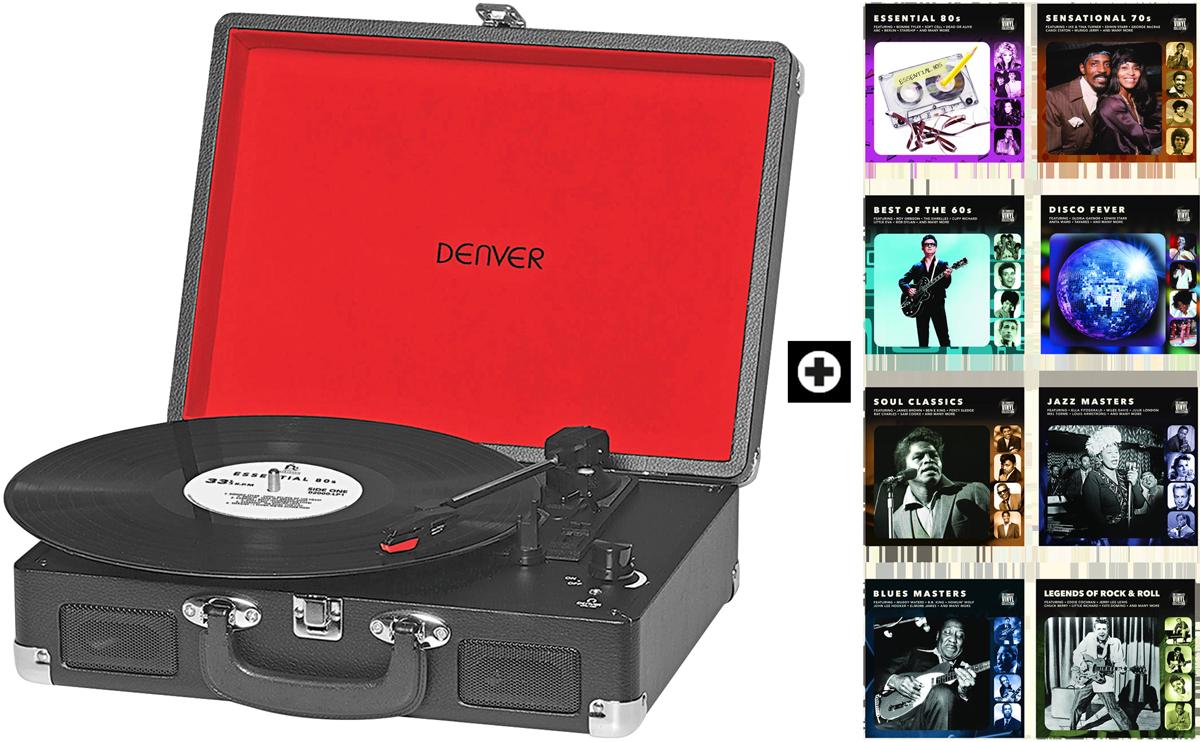 denver portabler plattenspieler 8 lp collections g nstig. Black Bedroom Furniture Sets. Home Design Ideas