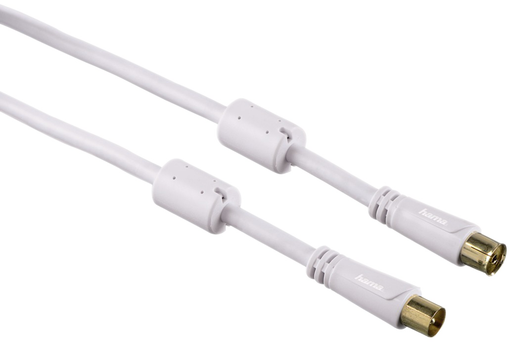 hama antennen kabel koax stecker koax kupplung 100 db. Black Bedroom Furniture Sets. Home Design Ideas