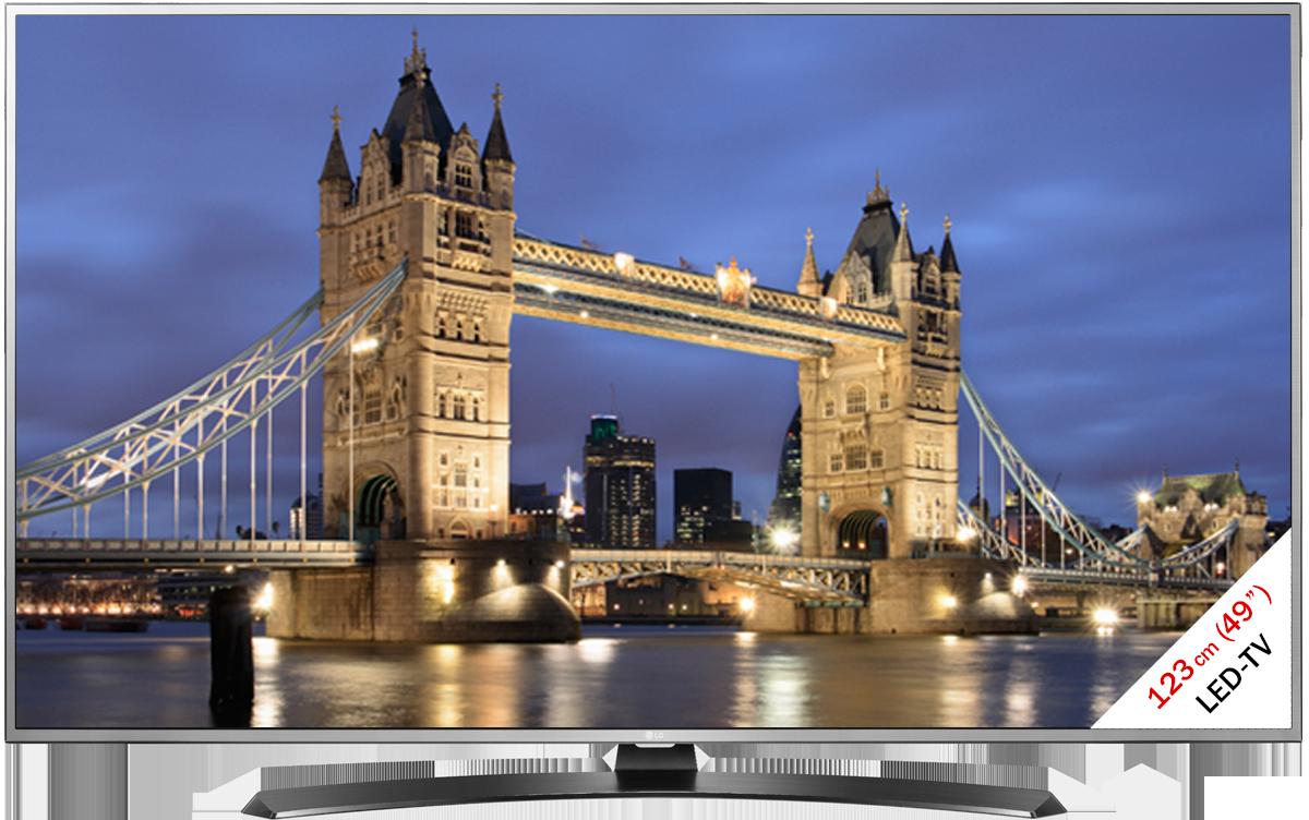 lg 49uh668v lcd led tv 49 123 cm silber schwarz g nstig kaufen 40 49 fernseher. Black Bedroom Furniture Sets. Home Design Ideas
