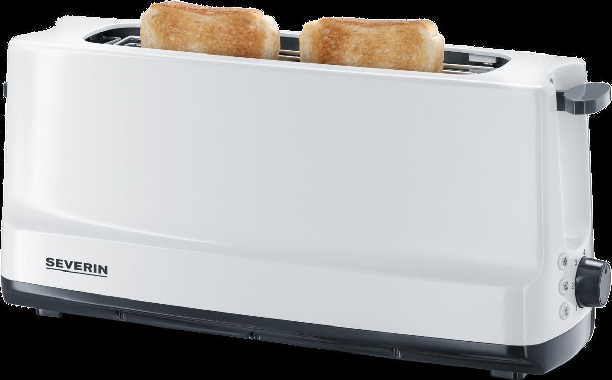 severin at 2232 automatik langschlitztoaster 800 w weiss grau g nstig kaufen toaster. Black Bedroom Furniture Sets. Home Design Ideas
