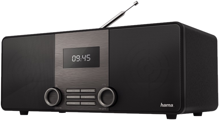 hama dr1510 digitalradio dab holzoptik schwarz. Black Bedroom Furniture Sets. Home Design Ideas