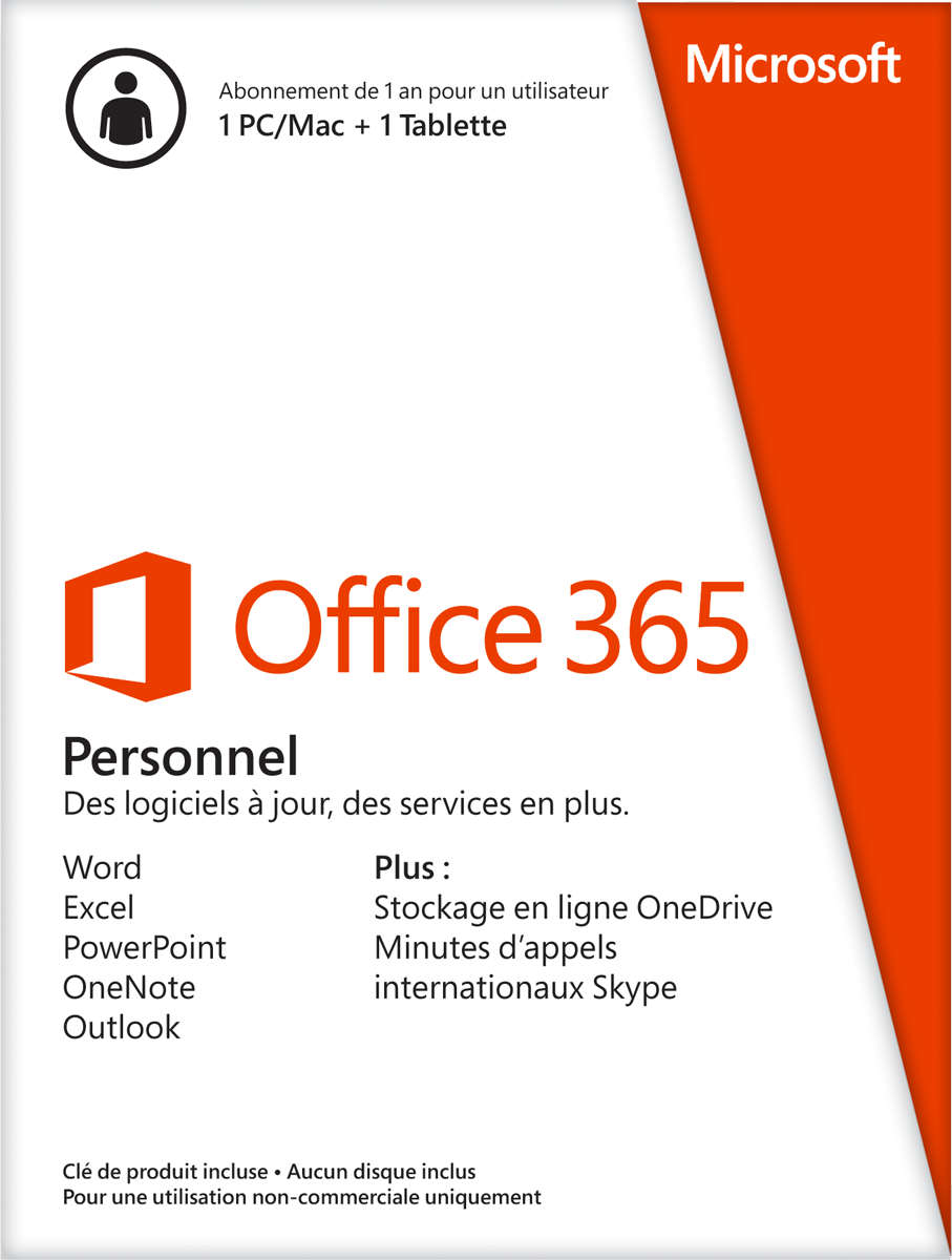 microsoft office 365 personal 1 licence fran ais logiciel de bureau pour multi os acheter. Black Bedroom Furniture Sets. Home Design Ideas