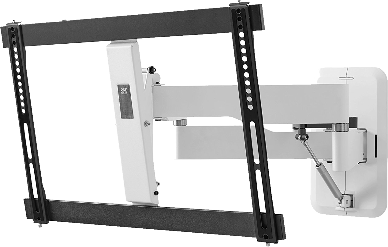 one for all tv wandhalterung 32 bis 84 zoll schwarz weiss g nstig kaufen neig und. Black Bedroom Furniture Sets. Home Design Ideas