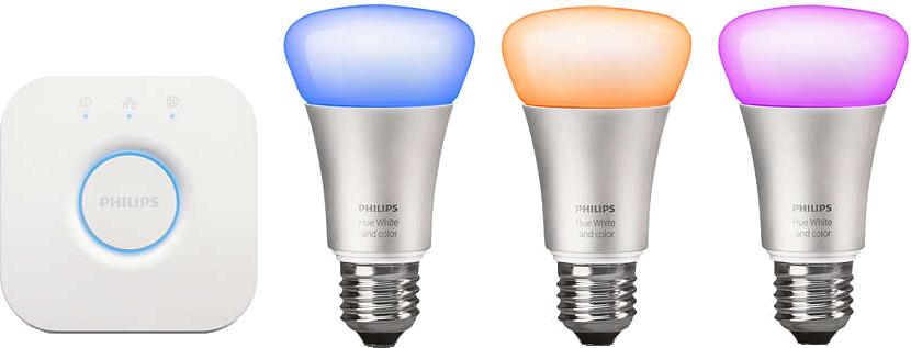 philips hue starter set e27 weiss und farbig g nstig kaufen leuchtmittel e27 media markt. Black Bedroom Furniture Sets. Home Design Ideas