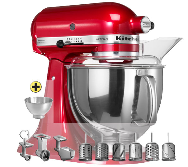 Kitchenaid ksm150 premium set rouge for Acheter ustensiles de cuisine