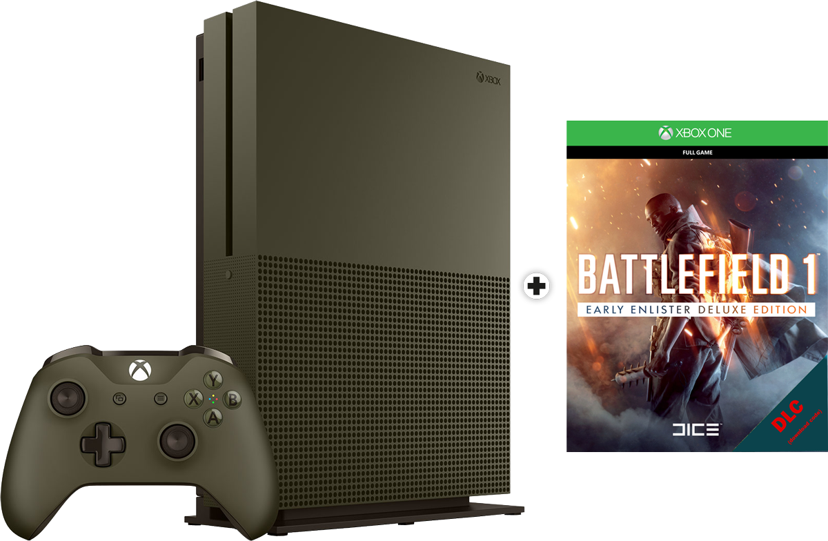 microsoft xbox one s limited edition battlefield 1 dlc. Black Bedroom Furniture Sets. Home Design Ideas