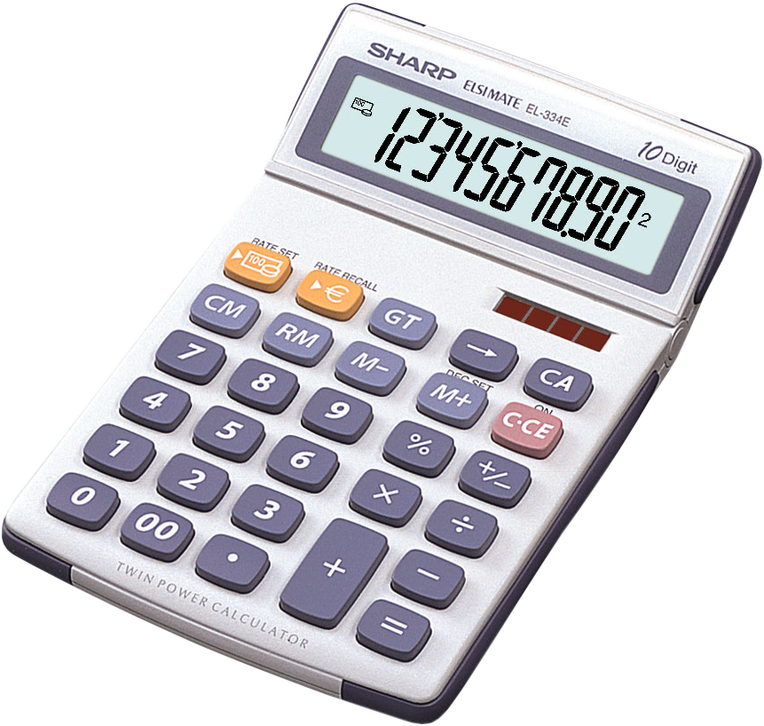 Sharp el334e calculatrice de table blanc gris for Table financiere