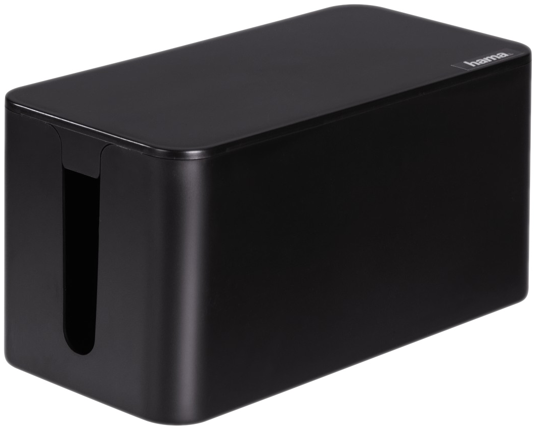 hama kabelbox mini schwarz g nstig kaufen kabelrollen boxen media markt online shop. Black Bedroom Furniture Sets. Home Design Ideas