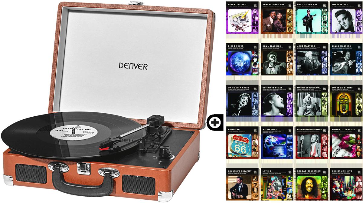 denver portabler plattenspieler braun 20 lp collections. Black Bedroom Furniture Sets. Home Design Ideas