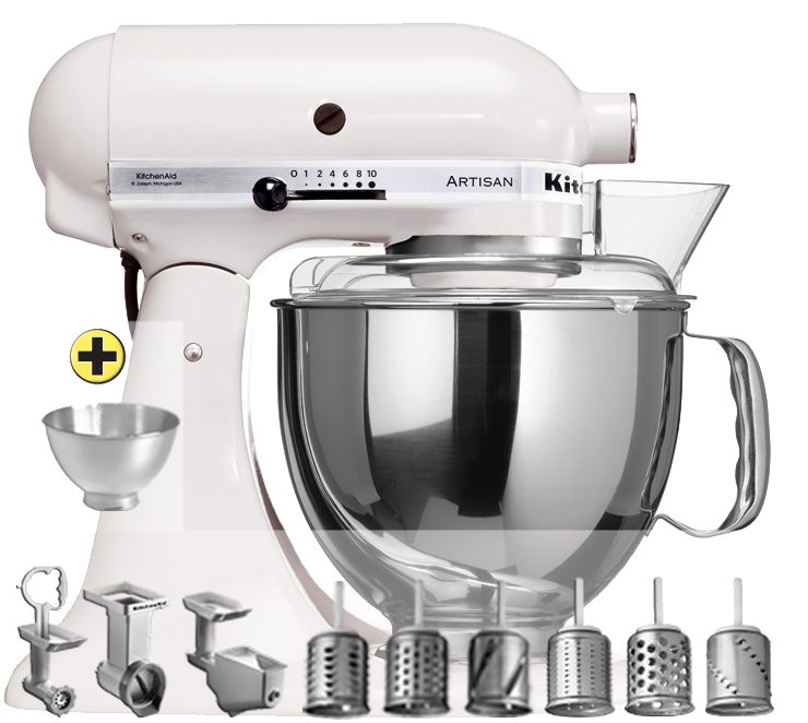 Kitchenaid ksm150 premium set blanc for Ustensile cuisine en ligne