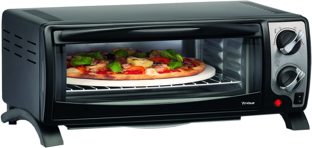 trisa pizza al forno minibackofen inklusive pizzastein schwarz g nstig kaufen. Black Bedroom Furniture Sets. Home Design Ideas