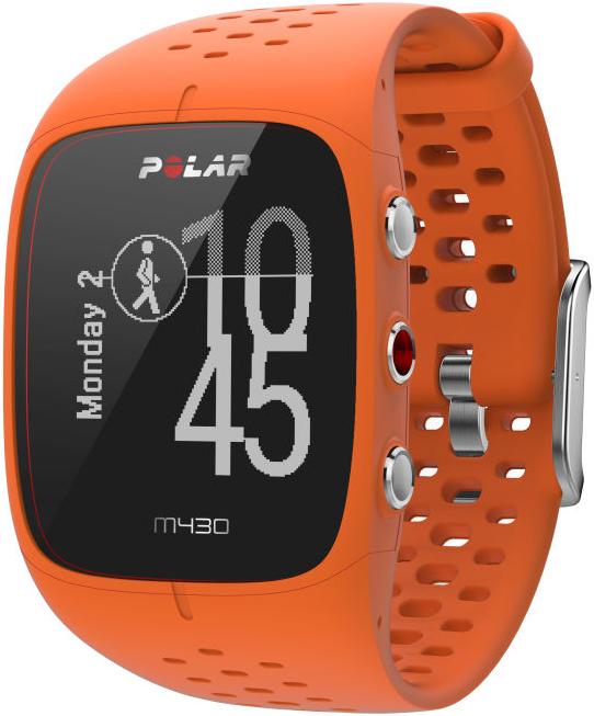 polar m430 gps laufuhr mit pulsmessung orange. Black Bedroom Furniture Sets. Home Design Ideas