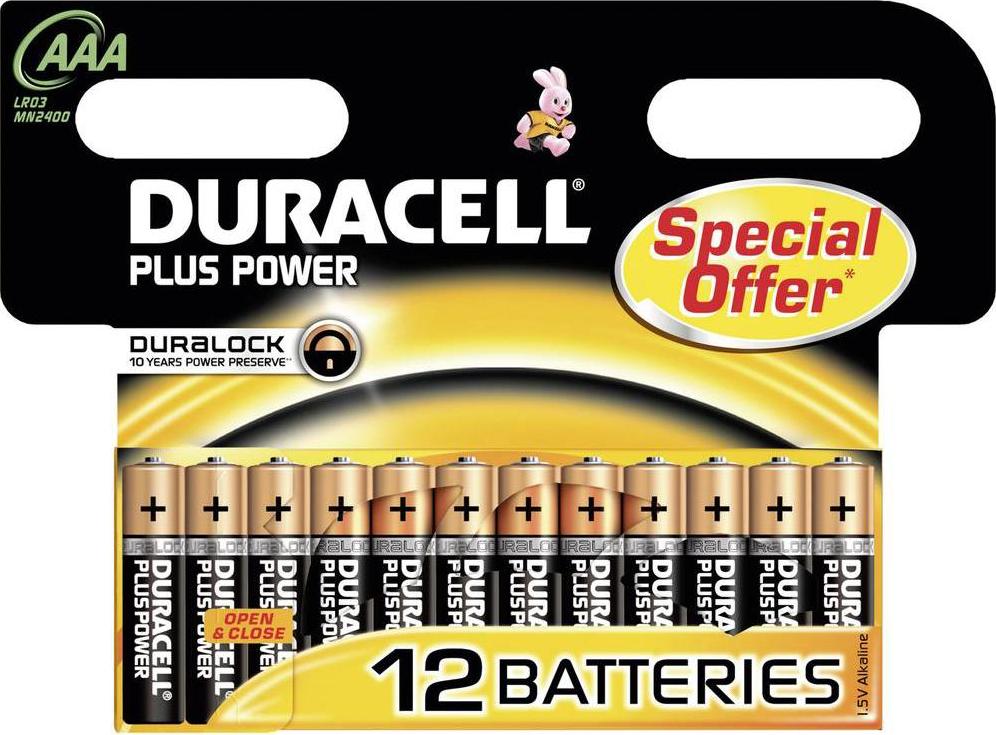 duracell plus power aaa 12er pack g nstig kaufen einweg batterien aaa media markt online shop. Black Bedroom Furniture Sets. Home Design Ideas