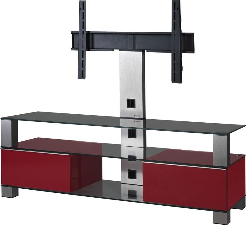 sonorous md8143 meuble tv dimension d 39 cran conseill e 50 noir rouge tv lowboards. Black Bedroom Furniture Sets. Home Design Ideas