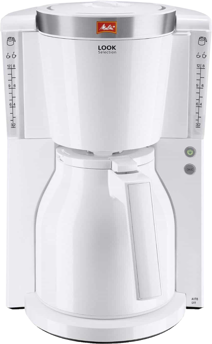 melitta look therm selection filterkaffeemaschine 1 l weiss g nstig kaufen. Black Bedroom Furniture Sets. Home Design Ideas