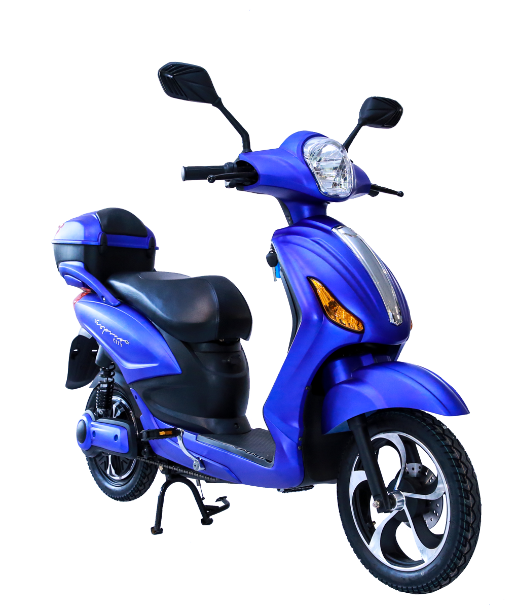 Vespino city electro scooter 25 km h blau matt g nstig for Roller markt essen