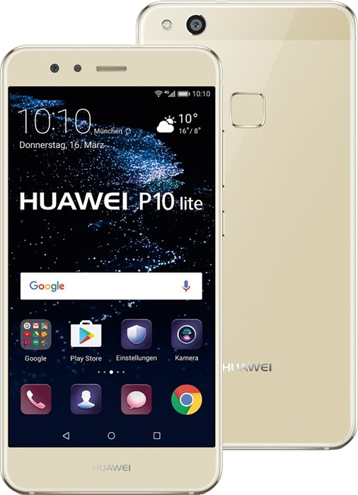 huawei p10 lite android smartphone dual sim gold. Black Bedroom Furniture Sets. Home Design Ideas