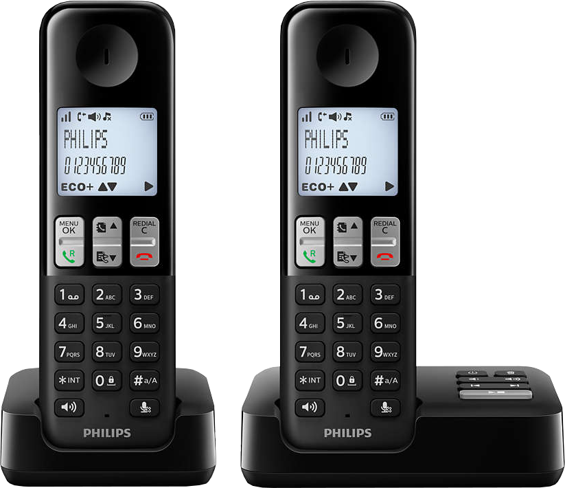 philips d2352b 38 t l phone fixe sans fil avec r pondeur. Black Bedroom Furniture Sets. Home Design Ideas