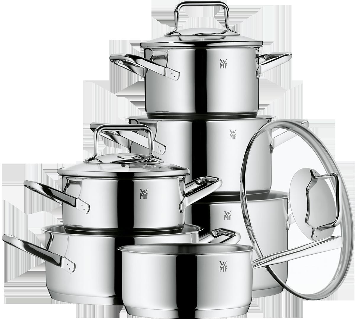 wmf batterie de cuisine 6 pi ces trend jeux de casseroles pour cuisini res induction. Black Bedroom Furniture Sets. Home Design Ideas
