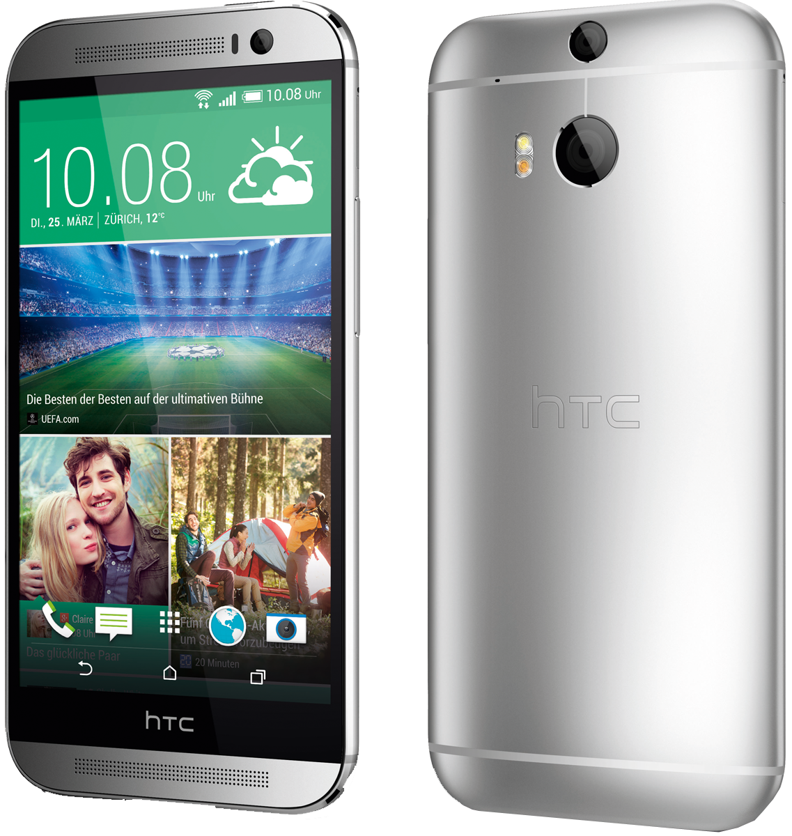 htc one m8 glacial argent android smartphones. Black Bedroom Furniture Sets. Home Design Ideas