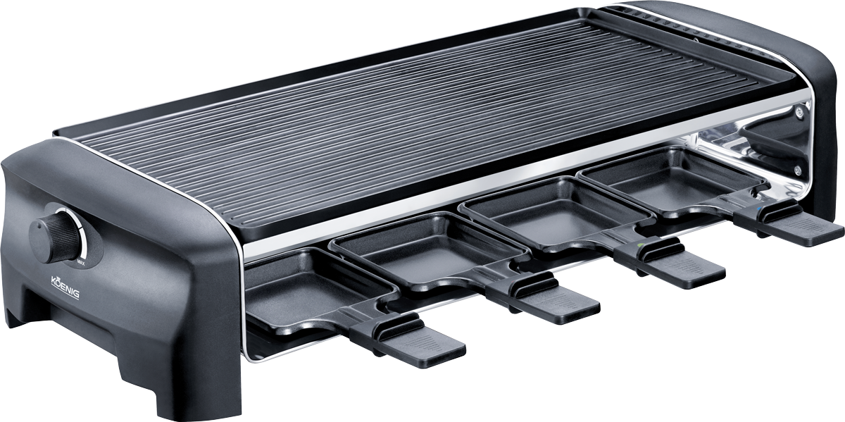 koenig raclette gourmet 8 g nstig kaufen kombi raclettegrill media markt online shop. Black Bedroom Furniture Sets. Home Design Ideas