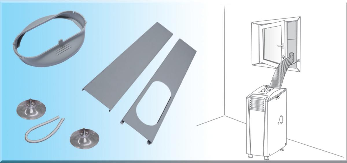 Suntec tf window kit accessori climatizzatori compra a - Tubo condizionatore portatile finestra ...