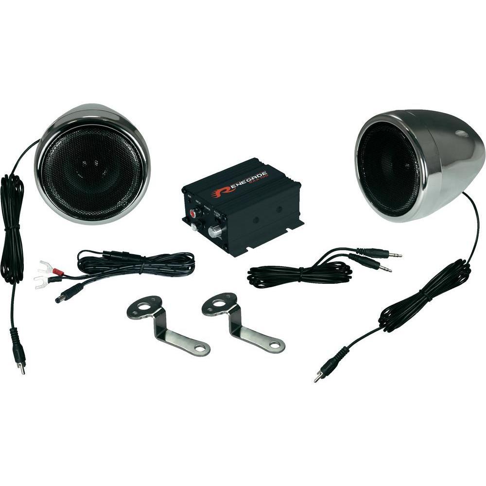 renegade rxa100 c soundsystem f r motorr der roller 2x. Black Bedroom Furniture Sets. Home Design Ideas
