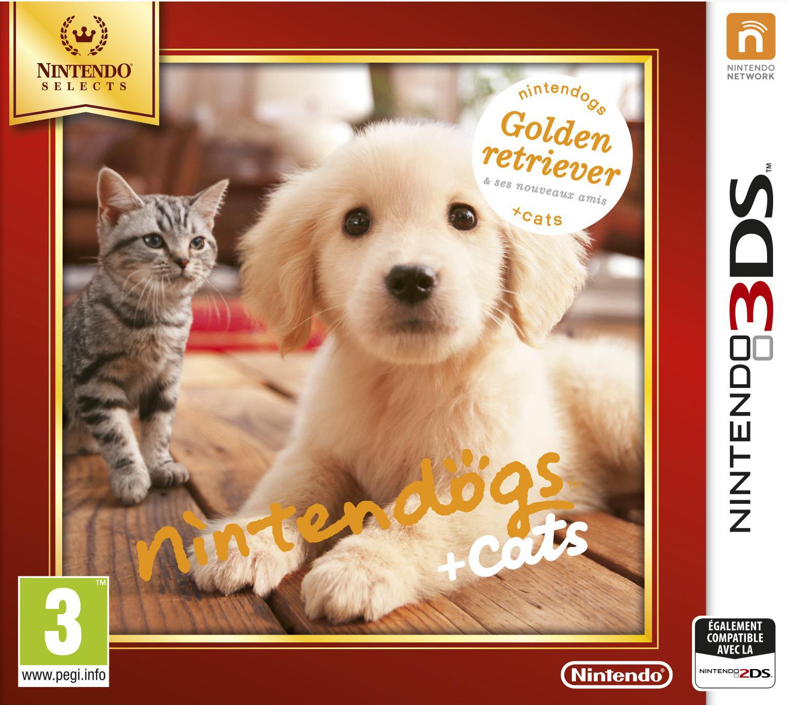 Nintendogs Cats Golden Retriever Ses Nouveaux Amis Ds