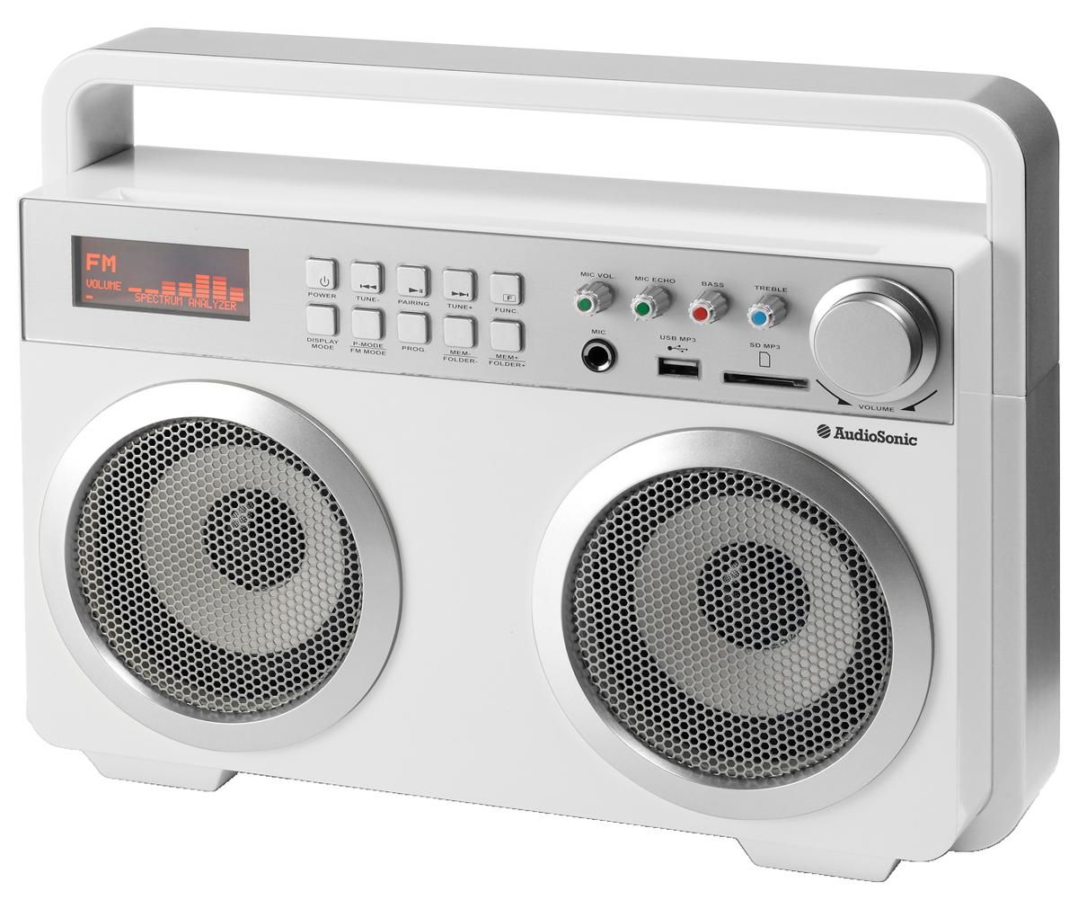 audiosonic rd 1559 weiss g nstig kaufen fm radio. Black Bedroom Furniture Sets. Home Design Ideas