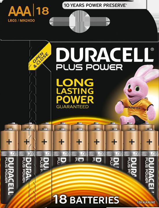 duracell plus power aaa batterien 18 st ck g nstig kaufen einweg batterien aaa media markt. Black Bedroom Furniture Sets. Home Design Ideas