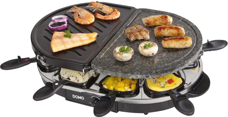 domo do9059g raclette grill 1200 w schwarz g nstig kaufen kombi raclettegrill media. Black Bedroom Furniture Sets. Home Design Ideas