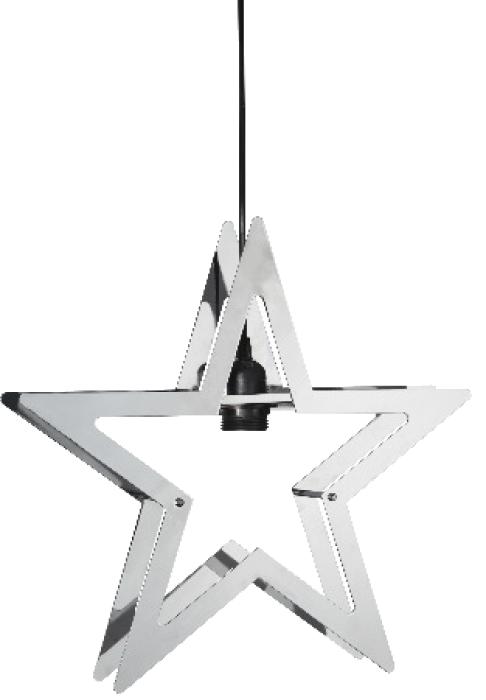 star trading starling metallstern 38x36cm indoor chrom g nstig kaufen. Black Bedroom Furniture Sets. Home Design Ideas
