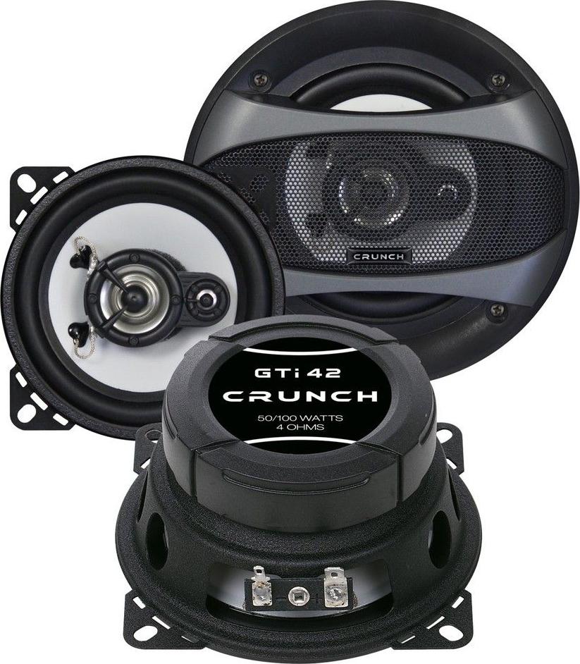 crunch gti42 haut parleurs 10 cm noir haut parleurs voiture largeur 10. Black Bedroom Furniture Sets. Home Design Ideas
