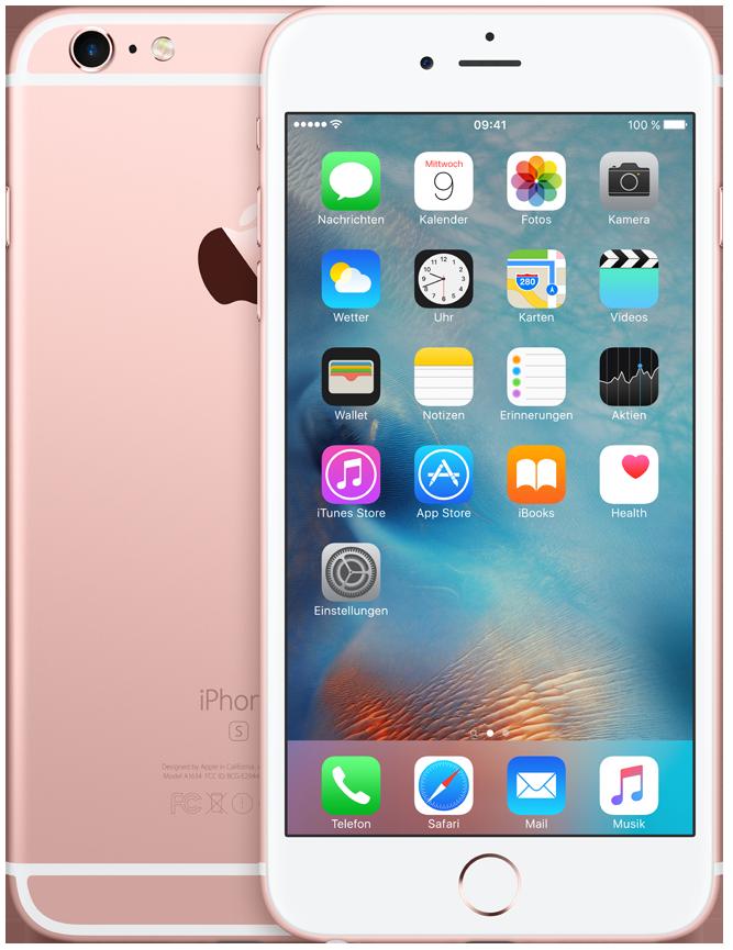 apple iphone 6s plus 64gb rosegold g nstig kaufen. Black Bedroom Furniture Sets. Home Design Ideas