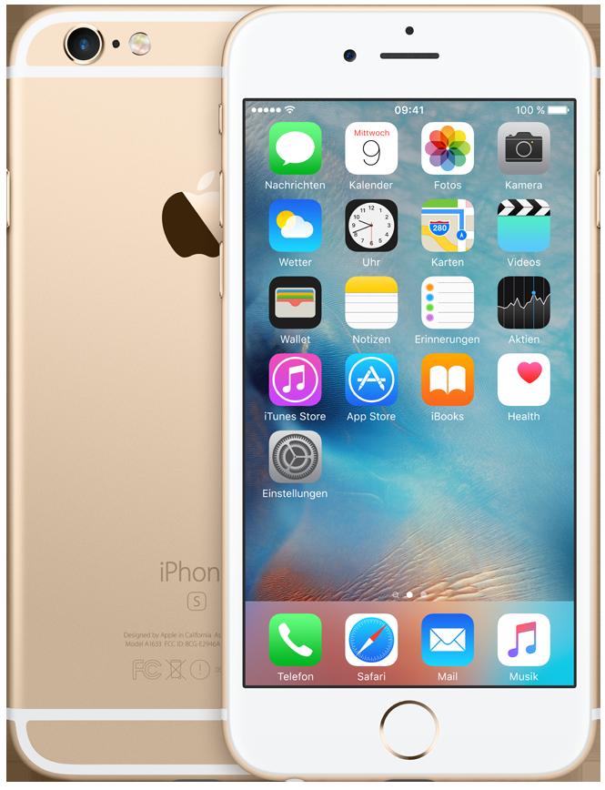 apple iphone 6s ios smartphone 128 gb gold g nstig. Black Bedroom Furniture Sets. Home Design Ideas