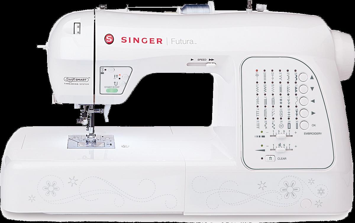 Singer futura xl 420 machine coudre blanc machines for Machine a coudre 9 ans