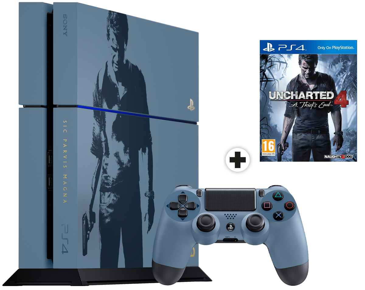 sony playstation 4 uncharted 4 limited edition g nstig. Black Bedroom Furniture Sets. Home Design Ideas