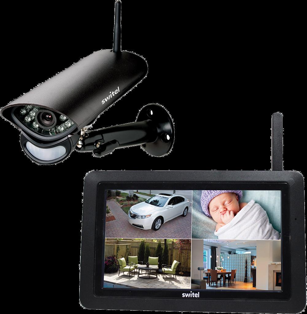 switel hs 2000 video berwachung hd schwarz g nstig kaufen einzelkamera media markt. Black Bedroom Furniture Sets. Home Design Ideas