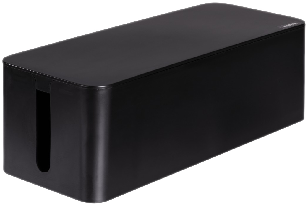 hama kabelbox maxi schwarz g nstig kaufen kabelrollen boxen media markt online shop. Black Bedroom Furniture Sets. Home Design Ideas