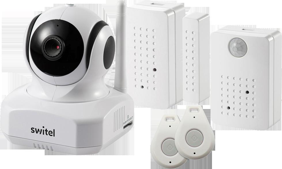 switel bsw 220 smart home security kit wifi kamera mit. Black Bedroom Furniture Sets. Home Design Ideas