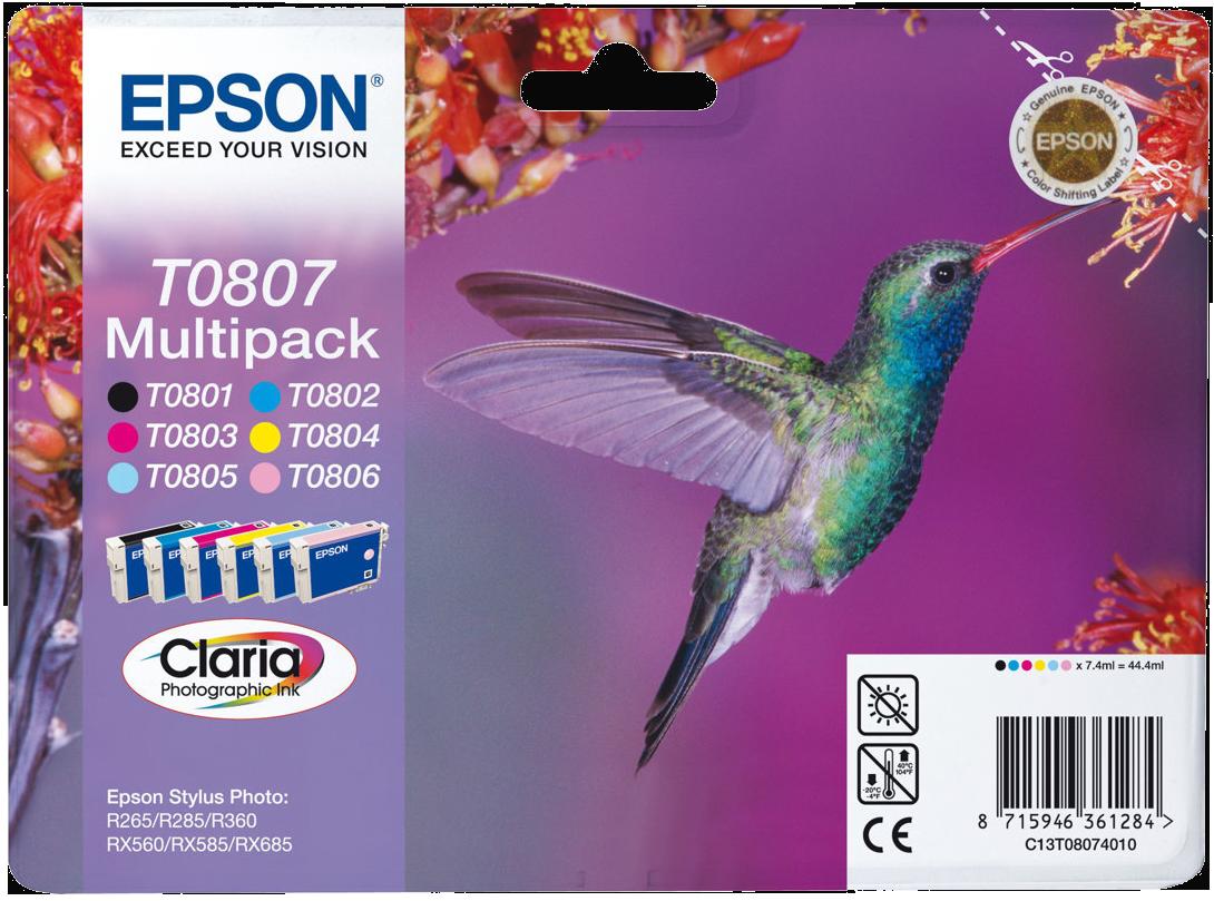epson t0807 multipack g nstig kaufen tintenpatronen. Black Bedroom Furniture Sets. Home Design Ideas