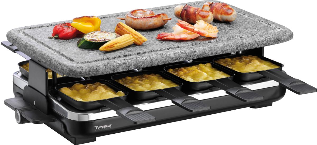 trisa raclette hot stone raclette gril 8 personnes noir combinaison de raclette gril. Black Bedroom Furniture Sets. Home Design Ideas