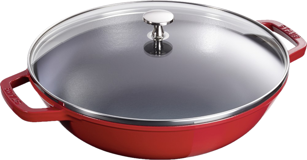 staub petit wok rouge wok po les pour cuisini res induction acheter bas prix media. Black Bedroom Furniture Sets. Home Design Ideas