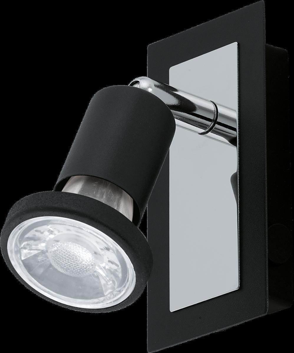 eglo sarria 94963 wandleuchte 1x 5 w schwarz chrom g nstig kaufen wandleuchten media. Black Bedroom Furniture Sets. Home Design Ideas