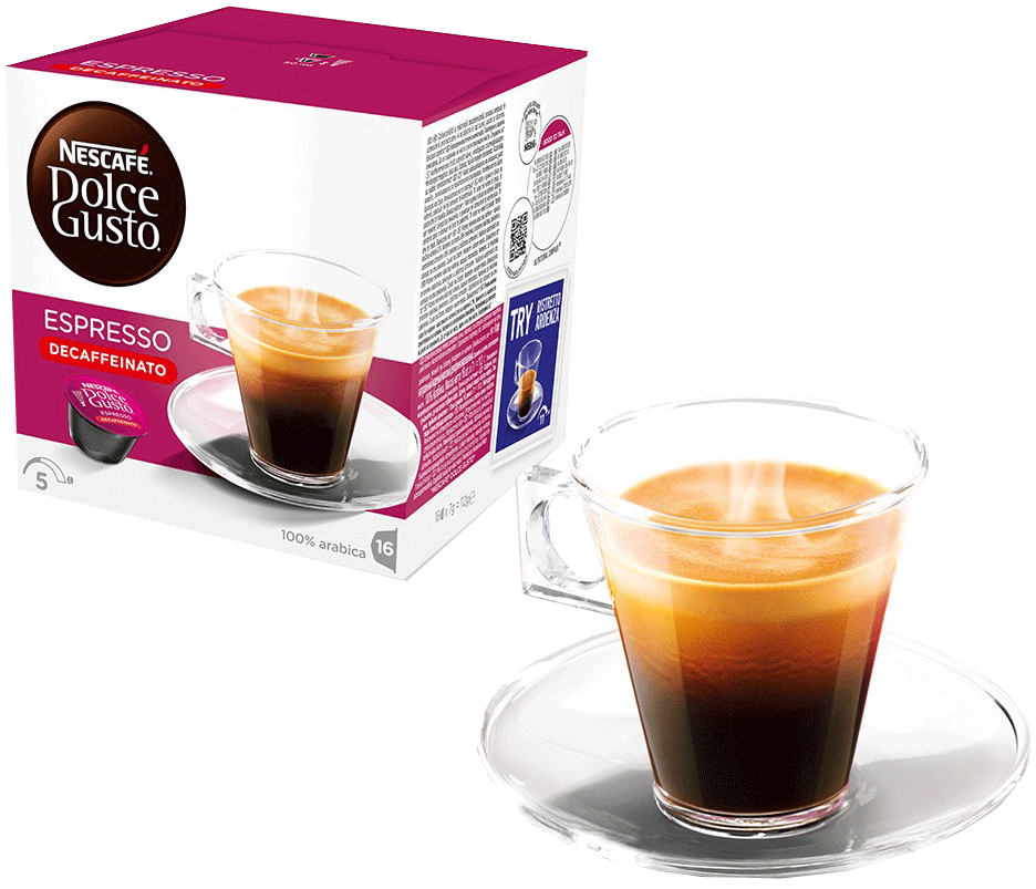 nescafe dolce gusto espresso decaffeinato kaffekapseln 16 stk g nstig kaufen nescaf. Black Bedroom Furniture Sets. Home Design Ideas