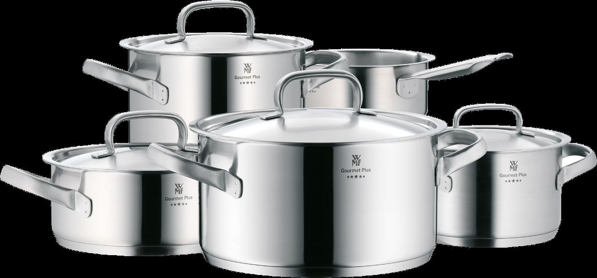 Wmf gourmet pi stoviglie per cucine a induzione pz 5 - Pentole per cucine a induzione ...